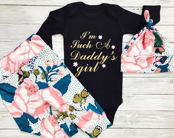 Baby Girl Clothes, Newborn Girl Outfit, Winter Baby Girl Clothes Newborn, Daddys Girl Baby Clothes, Newborn Girl, I'm Such A Daddy's Girl