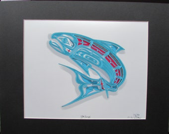 "New ""STEELHEAD"" Salmon  Limited Edition Matted Art Print Signed & Numbered"
