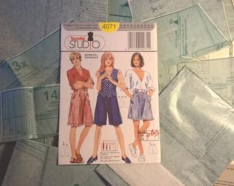 4071 Burda Studio pattern, bermuda 3 variations, shorts, plus size