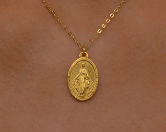 charm is mother chain box italy made pendant medallion virgin itm sterling loading in s silver mary image miraculous