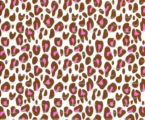 Pink Cheetah Print - Background Birthday - Edible Cake and Cupcake Topper For Birthday's and Parties! - D1062