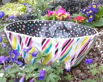 Colorful Strip Polka Dot Paper Macher Bowl