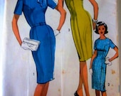 Advance 2945 Misses' 60s Sheath Dress and Scarf Sewing Pattern Junior Size 13 Bust 33
