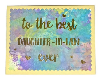 Daughter in law card Etsy