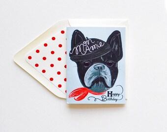 Happy Birthday Mon Amie French Bull dog