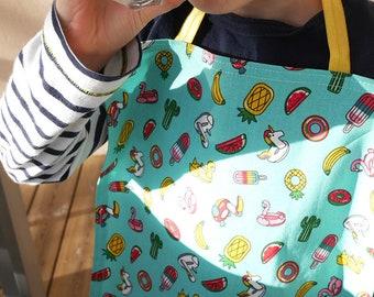 Napkin - school - home - children - elastic - swimming floats - unicorn - rainbow - turquoise - summer - gift - zero waste - independance