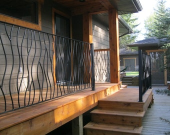 BENT Iron Art Deck Railing