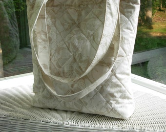 tote quilted seashell print fabric