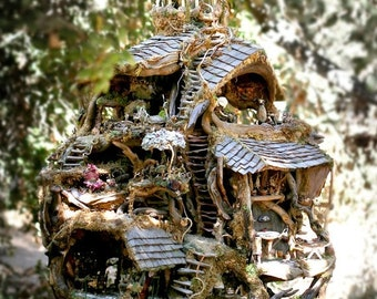 """Color 8"""" x 10"""" print of the Fairy Treehouse, beautiful creation from nature, exhibited at the American Visionary Art Museum, 1995 and 2012"""