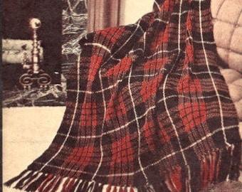 Highland Home Afghan Crochet Pattern 723125 vintage