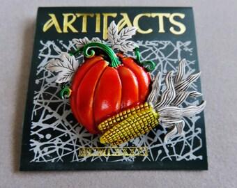 JJ Jonette Autumnal Harvest Brooch Pin