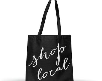 Shop Local Tote Bag, tote, tote bag, grocery bag, reusable bag, shopping bag, shopping, market bag, shop local tote, shop local bag