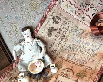 Church Doll Sampler Roll : Cross Stitch Pattern by Heartstring Samplery