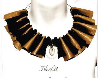 Leather Bib Statement Necklace