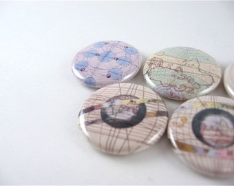 5 Fridge Magnets - Star Maps Astronomy Moon Space no 2 - fit magnabilities