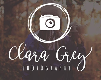 Camera Photography Logo and Watermark, Photographer Logo, Photography Logo, Rustic Logo Watermark, Watermark Logo, Premade Photography Logo