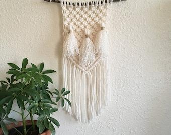 Small Macrame Wall Hanging w/ Tassels