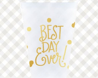 Best Day Ever! Cups (reusable) - Qty 12