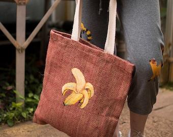 Hand Painted Banana Jute Bag