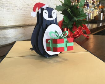 Pop Up Xmas Penguin, pop up cards, pop up christmas cards, pop up cards christmas, pop up christmas card, pop up
