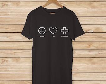 Paix amour positivité adulte T-shirts et des débardeurs de dames