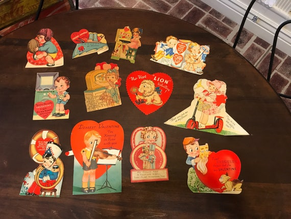 Valentines Cards 12 1930-40s