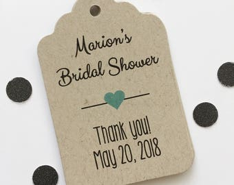 Bridal Shower Favor Tags, Customized Shower Tags, Bridal or Baby Shower Favor Tags (ST-006)