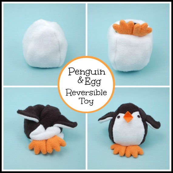 Penguin & Egg Reversible Softie - PDF Sewing Pattern from ...