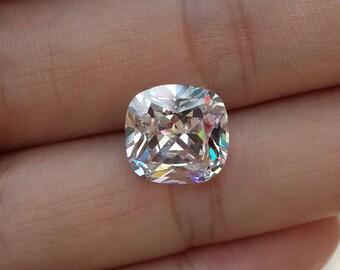 11x11mm cushion cut, CZ loose, cubic zirconia, wholesale,radiant cut,solitaire ring,hand cut,man made diamond,9ct