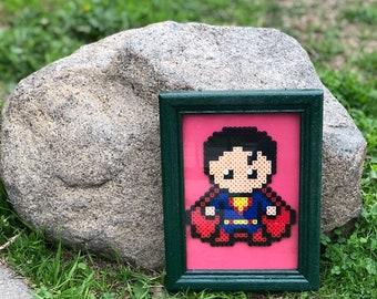 Superman Framed Pixel Art