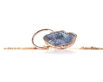 Druzy Necklace Gift For Her Druzy Jewelry Necklace Druzy Gemstone Necklace Druzy Pendant Gifts For Her Rose Gold Necklace Boho Necklace Gift