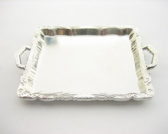Dolls House Miniatures Food Accessories Supply Silver Buffet Tray Supply 10916