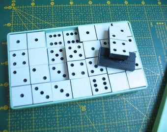 Vintage domino set Game dominoes White black domino Dice tile games Game dominoes Domino Set Domino Travel Set Game Set Vintage Gift set