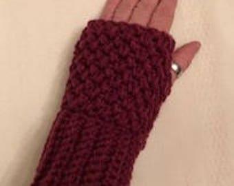 Fingerlose Handschuhe, SMS, Handschuhe ohne Finger, häkeln fingerlose Handschuhe, SMS, Burgunder Handschuhe häkeln