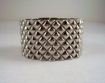 Silver tone Bold Stretch Bracelet