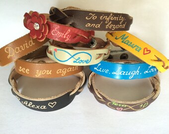 Pesonalized Leather Bracelets