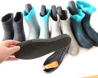 Shoe Making Supplies Rubber Soles Womens Wool Slippers, Shoe Soles For Boots, Soles For Shoes, Solid Out Sole Slipper Soles - Sizes US 5-10