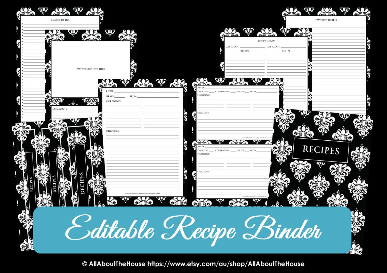 Excel Recipe Card Template