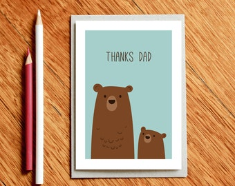 Father's Day Card, Card for Dad, Dad Birthday Card, Xmas Dad Card, Thanks Dad, Thank you Dad, Dad Gift, New Dad Card, Fathers Day Card