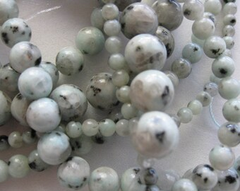 10mm Sesame Jasper Round Beads - 16 inch strand