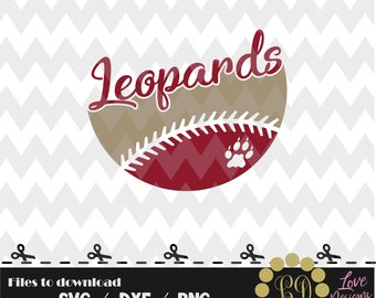 Leopards Ball svg,png,dxf,cricut,silhouette,jersey,shirt,proud svg,birthday,invitation,sports,cutting,baseball,softball,lafayete