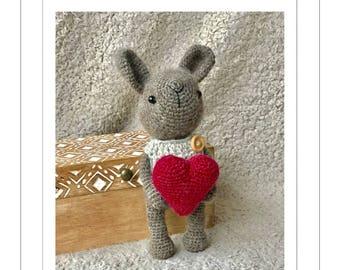 Crochet Bonny the Valentine Bunny pattern