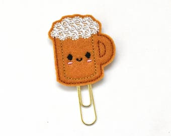 Kawaii Beer Felt Planner Clip / Bookmark
