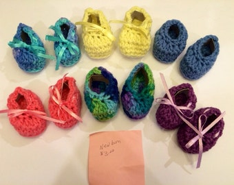 Crocheted Infant Booties