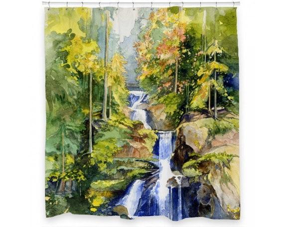 Waterfall Shower Curtain 72 x 66