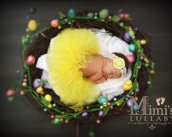 Spring tutu set in yellow
