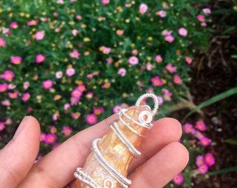 Tangerine Aura Quartz Pendant