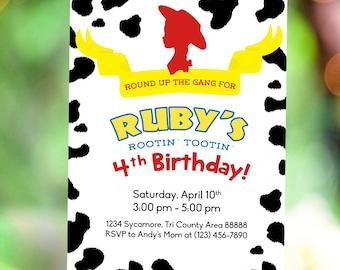 Toy Story Jessie Cowgirl Birthday Invitation DIY
