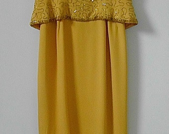 Vintage Gold Couture Gown