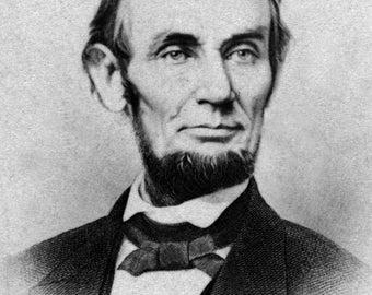 Portrait of Abraham Lincoln - Civil War Photograph (Art Print - Multiple Sizes Available)